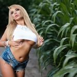 Sesja Laury w kukurydzy