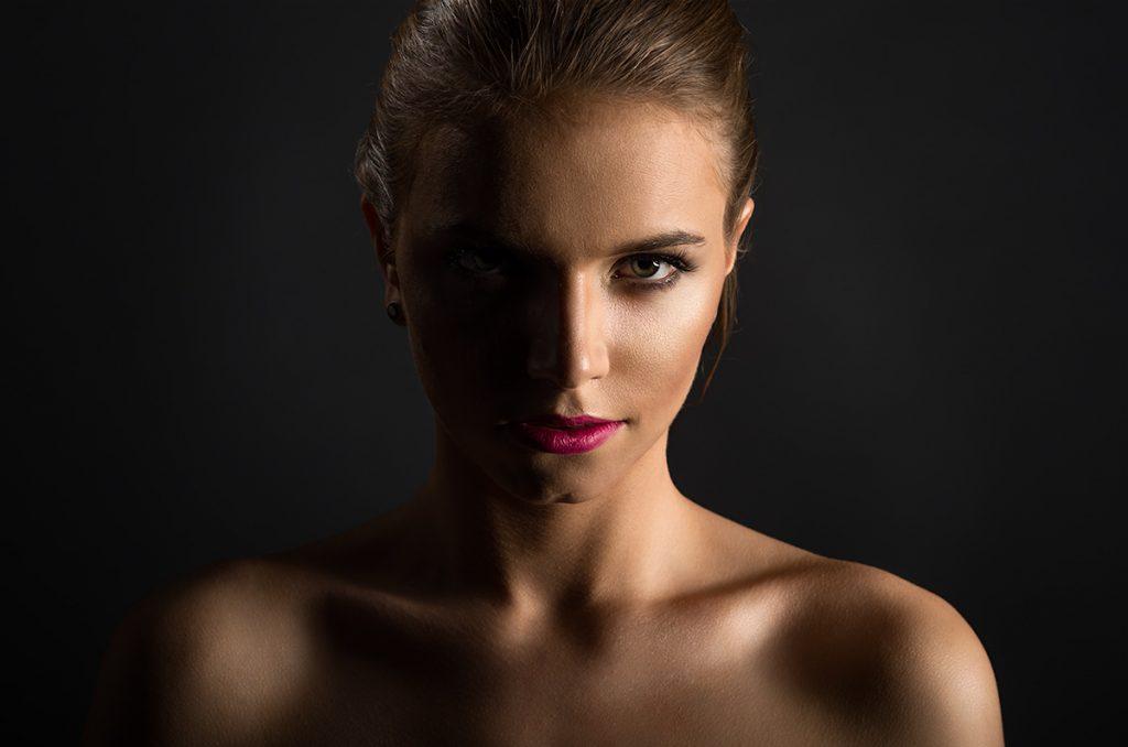 oświetlenie boczne - portret