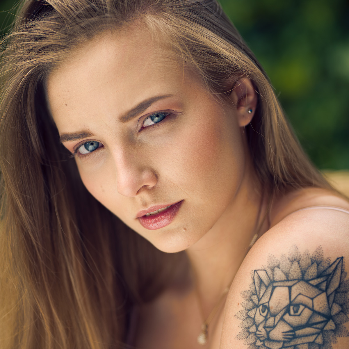 portret z blendą i dyfuzorem